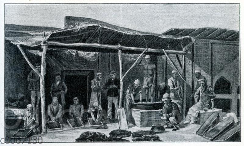 Opiumherstellung in Indien