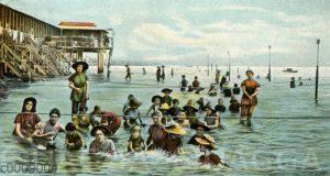 Badende am Lido di Venezia