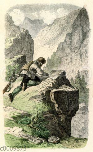 Kletterpartie in den Bergen