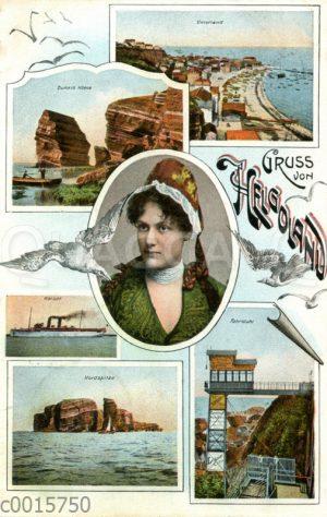 Gruß von Helgloland - Ansichtskarte