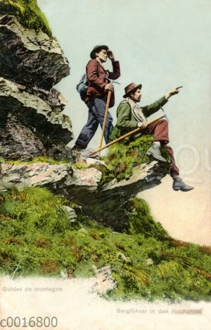 Bergführer in den Hochalpen