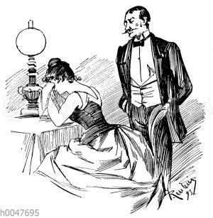 Mann und Frau in einer Auseinandersetzung