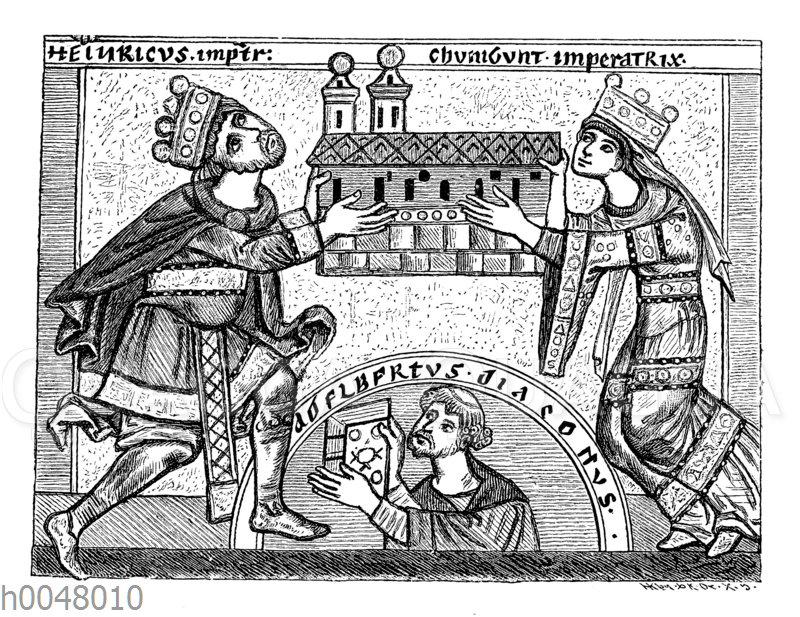 Heinrich II. und Kunigunde als Kirchenerbauer