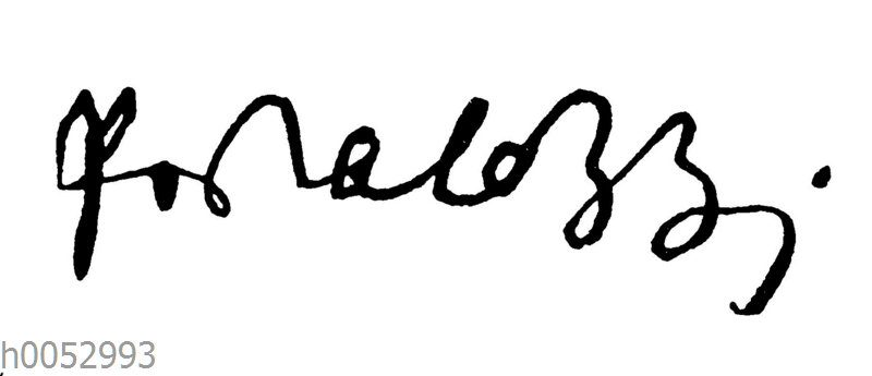 Johann Heinrich Pestalozzi: Autograph