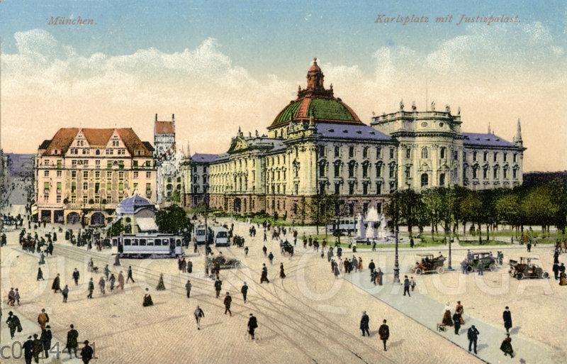 München: Karlsplatz mit Justizpalast