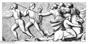 Kampfszene von der Siegessäule Marc Aurels zu Rom