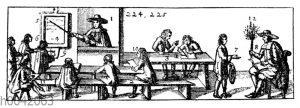 Schulstube im 17. Jahrhundert