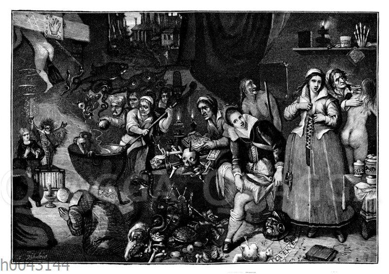 Hexenküche. Ölgemälde von F. Francken d. J.