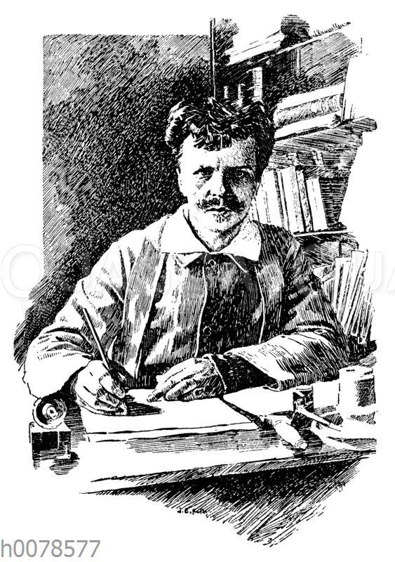 August Strindberg. Nach einer Selbstfotografie