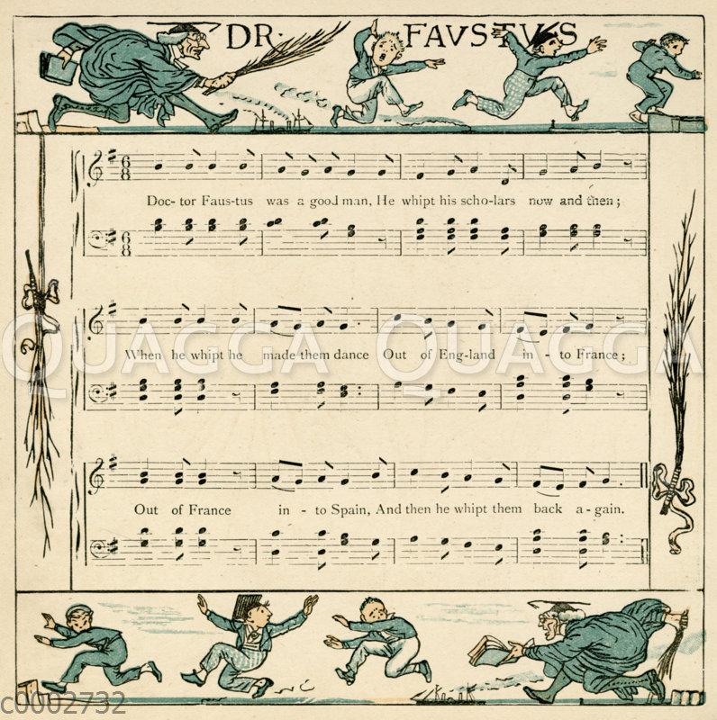 Dr. Faustus. Illustration zum Lied von Walter Crane