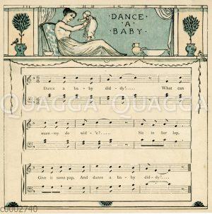 Dance a Baby. Illustration zum Lied von Walter Crane