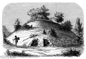 Schwedischer Tumulus mit zwei Gang-Grabkammern