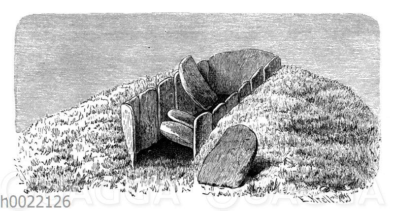 Stein-Grabkiste bei Skettened