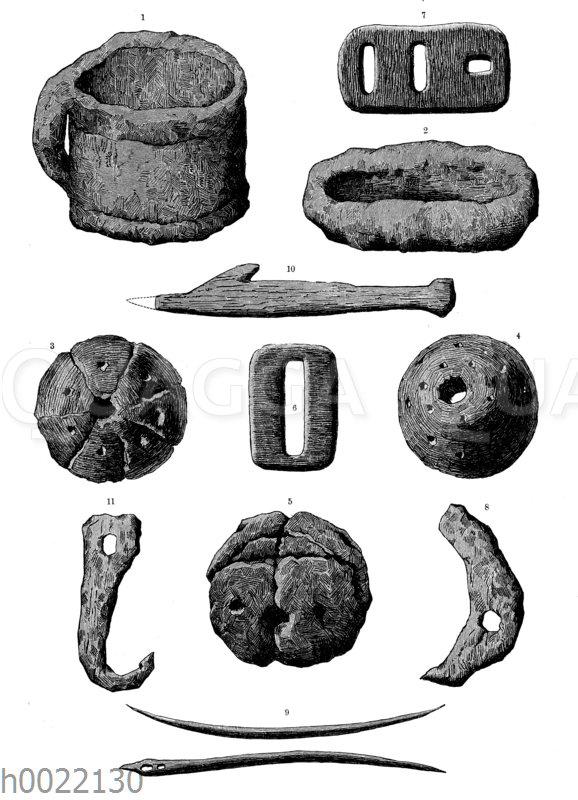 Tönerne und knöcherne Geräte und Schmuckstücke aus der jüngeren Steinzeit der Fränkischen Schweiz