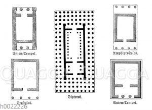 Typische Bauformen griechischer Tempel: Anten-Tempel