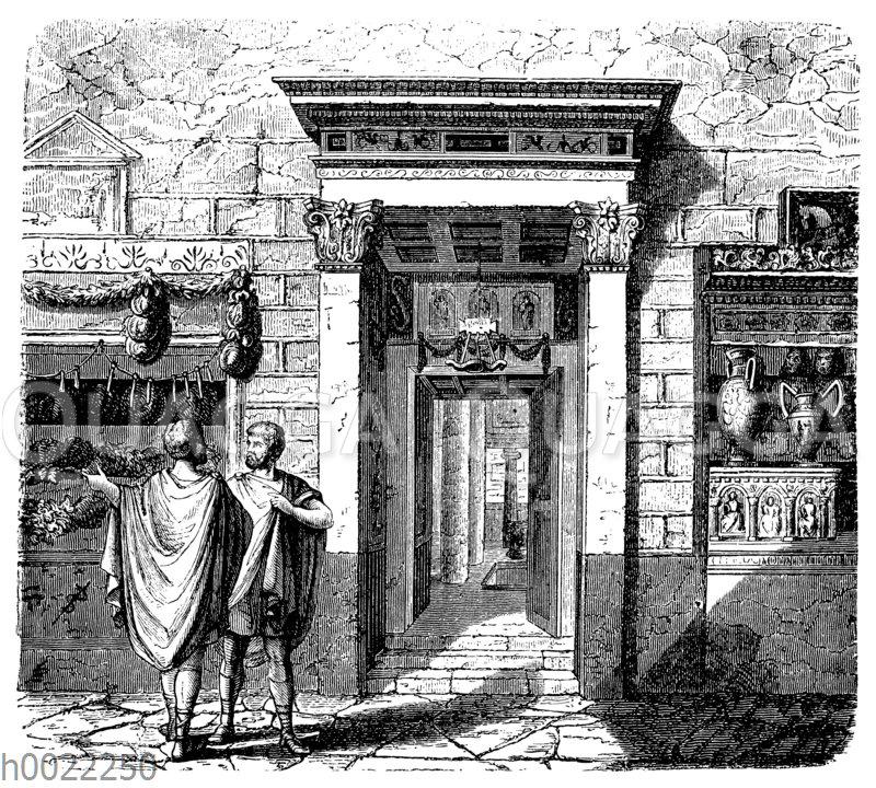 Haus des Aedilen Pansa in Pompeji: Eingang