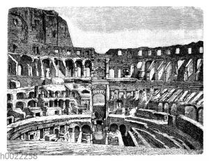 Colosseum in Rom: Innenansicht