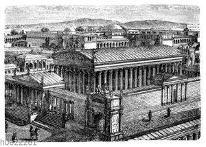Tempel der Vernus und Roma