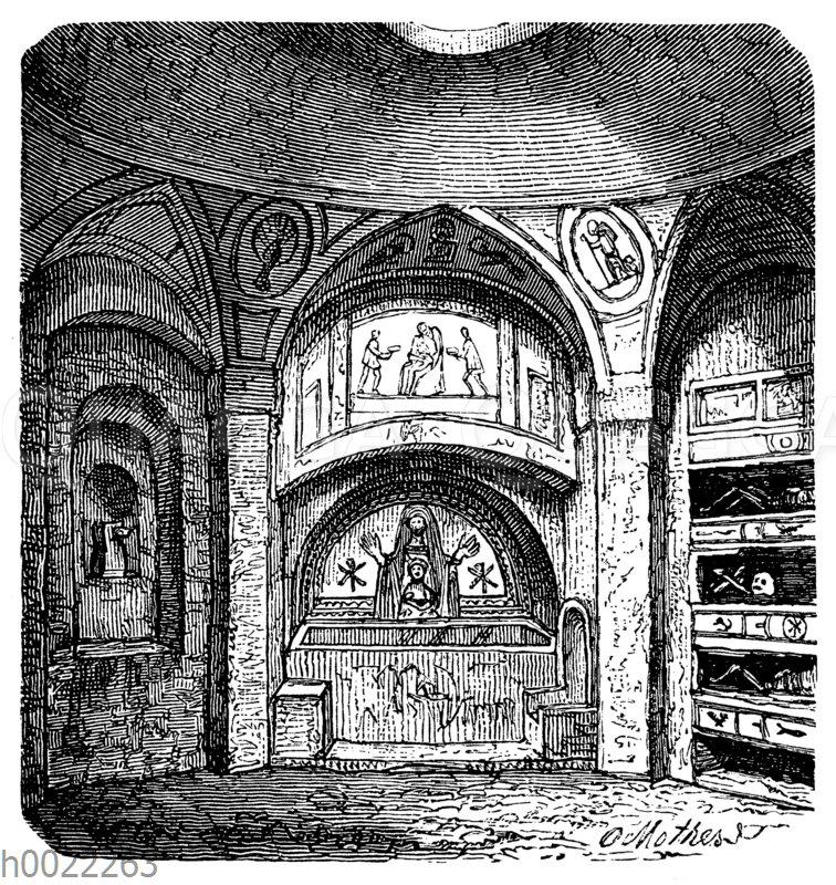 Kapelle aus den Katakomben von S. Agnese in Rom
