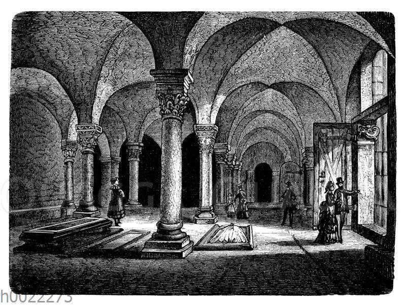 Krypta der Schlosskirche zu Quedlinburg