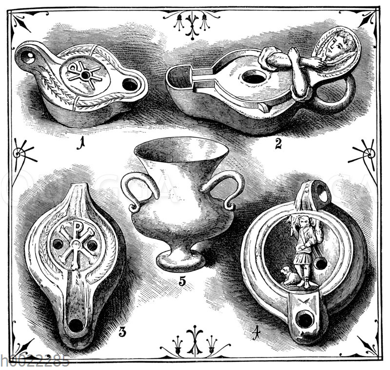 Altchristliche Lampen (1-4)
