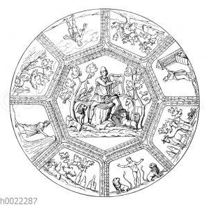 Deckengemälde einer römischen Katakombe