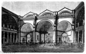 Frigidarium in den Bädern des Caracalla. Wiederherstellung nach Viollet-Le-Duc