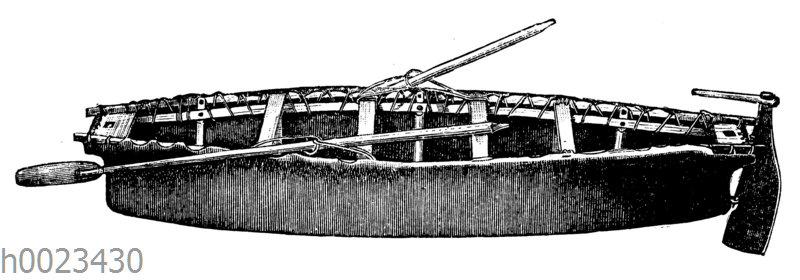 Umiak (Weiberboot) der Eskimo