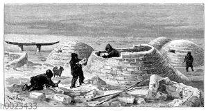 Schneehütten der Eskimo (Iglus)
