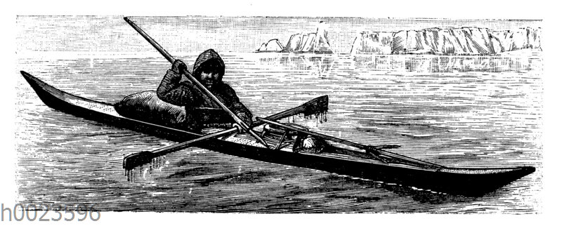 Kajak der Eskimo