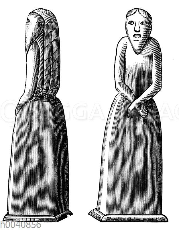 Steinbild eines heidnischen Priesters