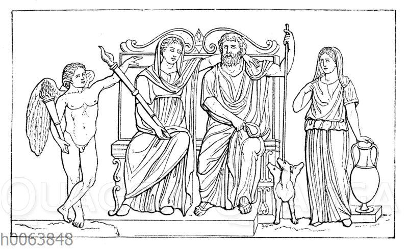 Persephone und Hades (Relief im Vatikan zu Rom)