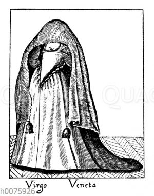 Venezianische Jungfrau in Straßenkleidung