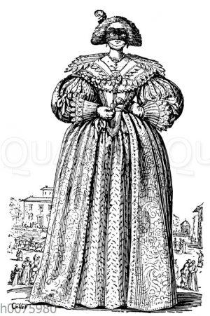 Modebild einer maskierten Dame
