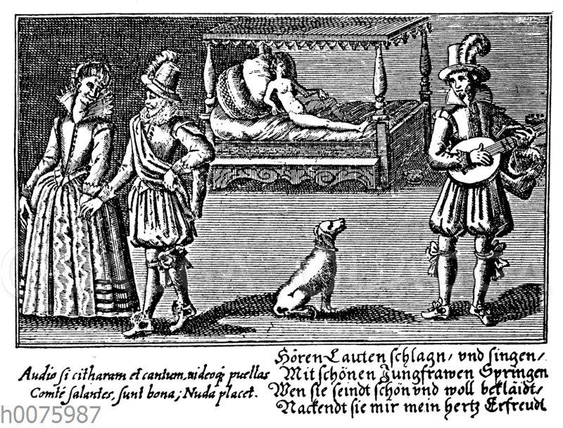 Stammbuchillustration von 1643