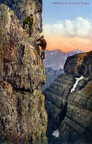 Bergsteiger in den Tiroler Bergen