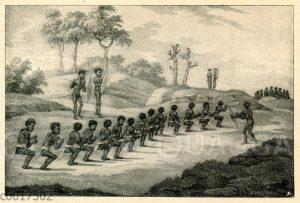 Australische Ureinwohner bei Kampfspielen