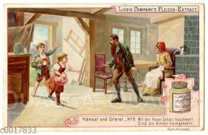 Hänsel und Gretel kehren mit vielen Schätzen nach Hause zurück