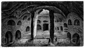 Vorraum der Katakomben in Neapel