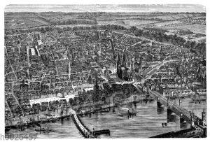 Köln aus der Vogelperspektive