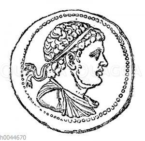 Ptolemäus IV. Philopator auf einer Münze