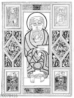 Titelblatt eines irigschen Evangelienbuchs
