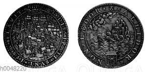 Niederländische Armada - Gedenkmünze aus dem Jahre 1588