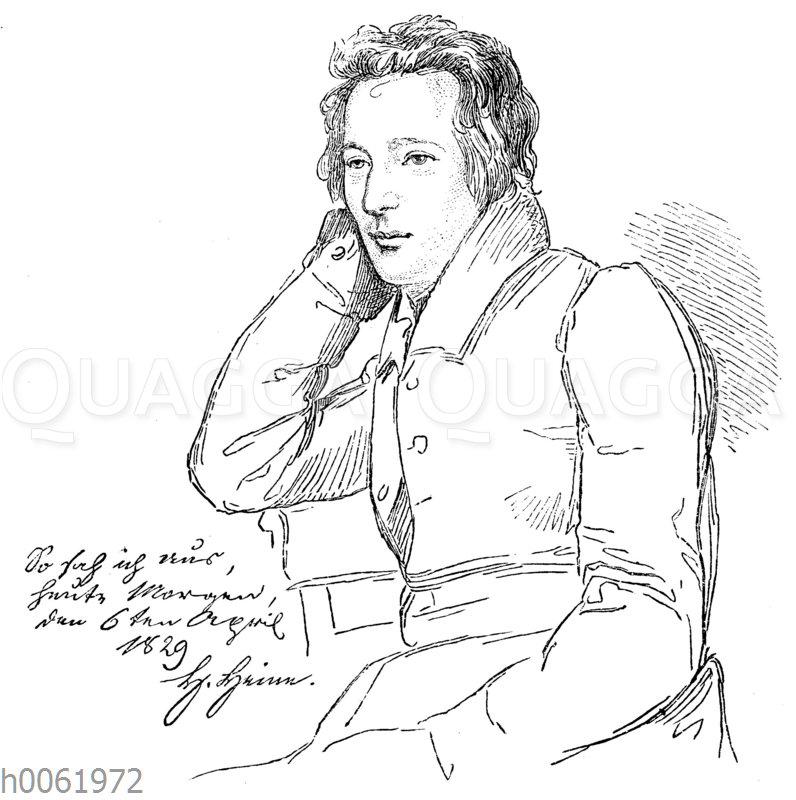 Heines Bildnis im 29. Lebensjahr