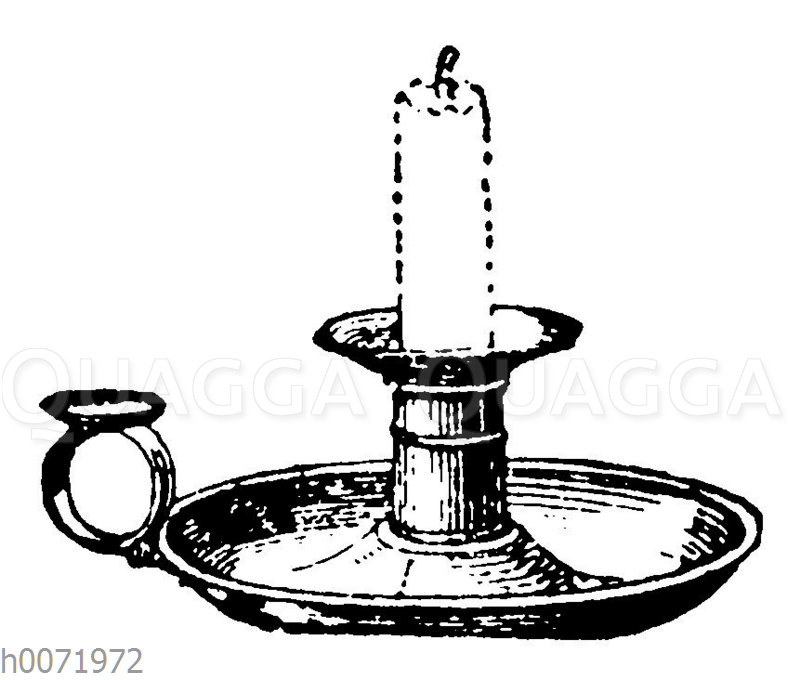 Kerzenhalter mit Kerze