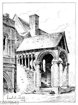 Normannisches Treppenhaus in Canterbury