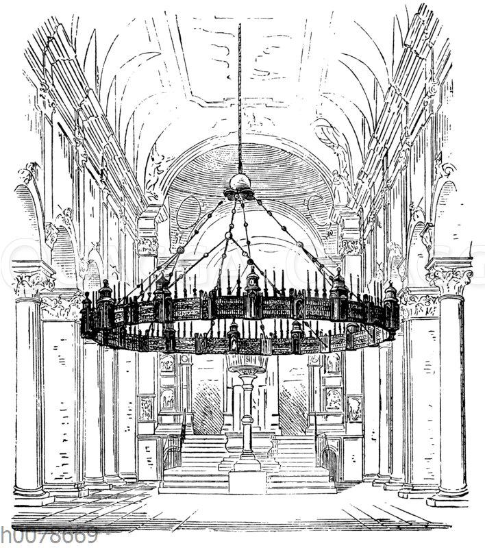Romanischer Kronleuchter im Dom von Hildesheim