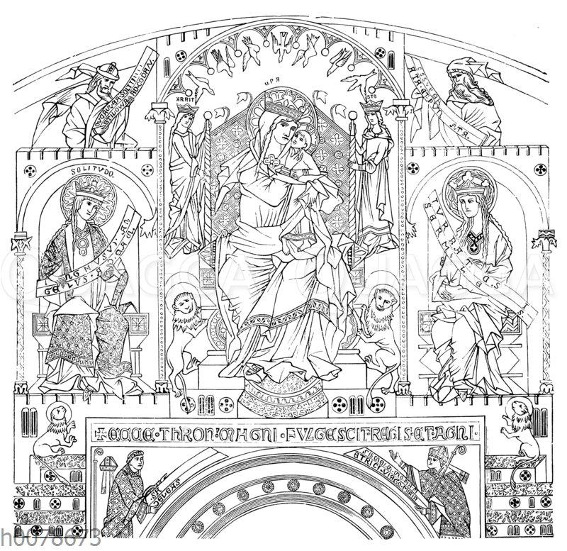Von den Wändgemälden im Dom zu Gurk in Kärnten