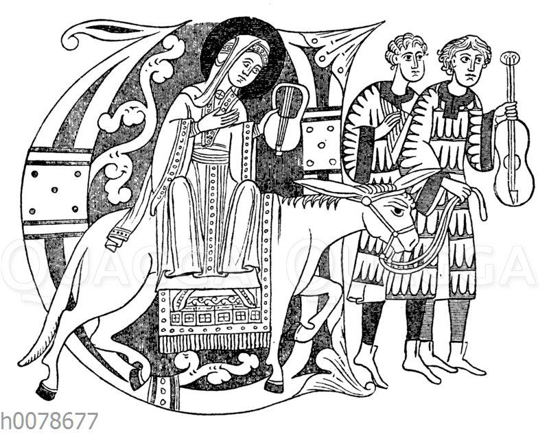 Die heilige Pelagia im Zwiefaltener Passional