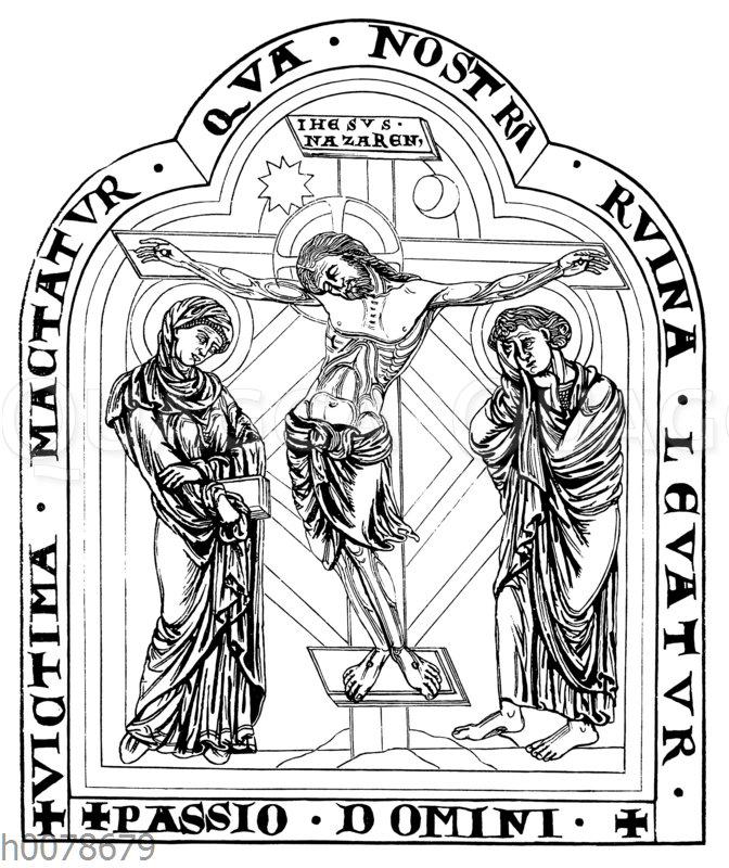 Kreuzigung. Email-Altaraufsatz in Klosterneuburg